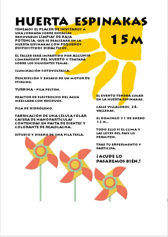 Jornada energías renovables en Huerta Espinakas